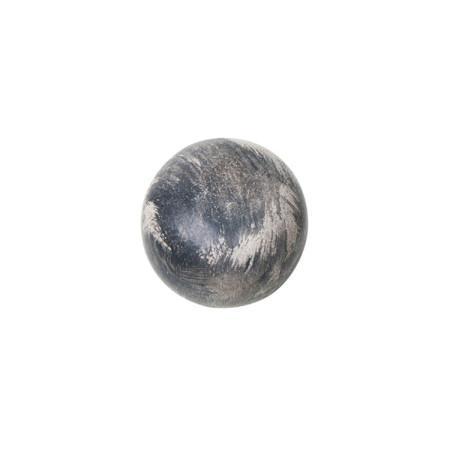 Tirador para mueble, madera decapada, color gris, 40 mm