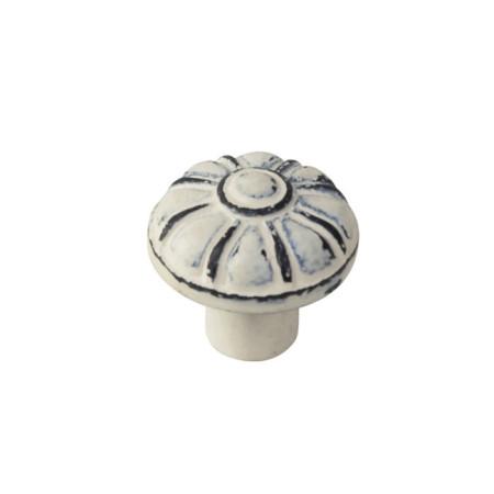 Pomo hierro envejecido, patina beige, 35 mm
