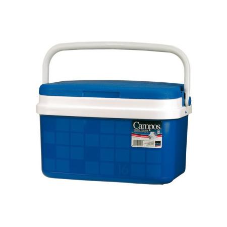 Nevera portátil rígida 16 L, polipropileno azul. Campos 16 litros