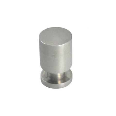 Pomo de acero inoxidable, 15 mm, forma redonda, Nesu 8286AI