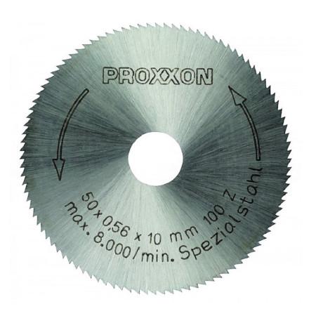 Hoja de corte realizada en acero especial de alta aleación de Proxxon