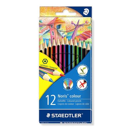 Estuche de 12 lápices de colores brillantes, Staedtler