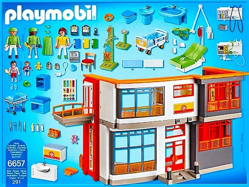 Playmobil 6657 hospital infantil con quir fano y m s for Hospital de playmobil
