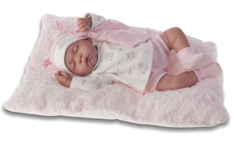 Mu eca beb luna acostadita antonio juan 3348 brico reyes for Espejo para ver al bebe en el auto