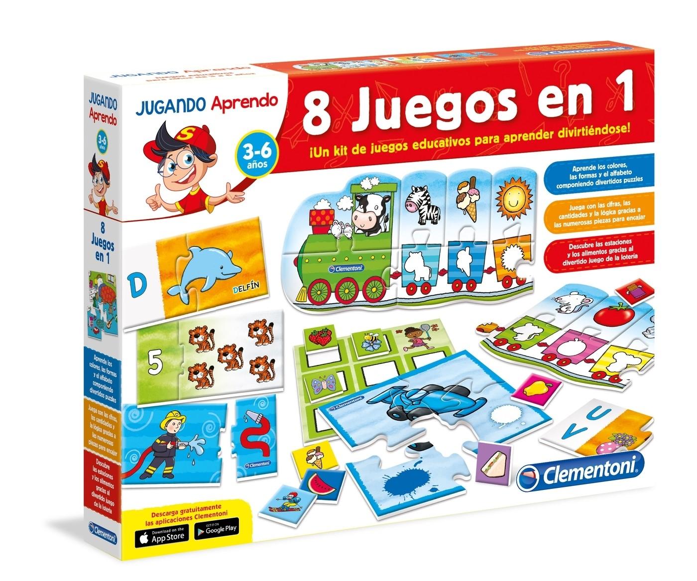 Kit 8 Juegos En 1 Juego Educativo Clementoni Brico Reyes