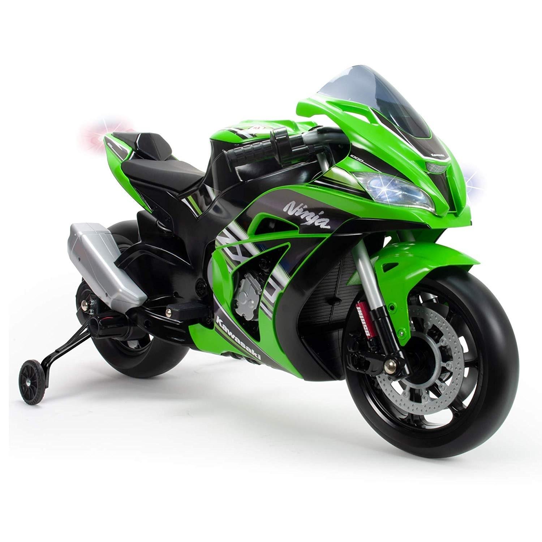 Moto Kawasaki Zx10 Ninja 12v Color Verde Injusa 6495 Brico Reyes
