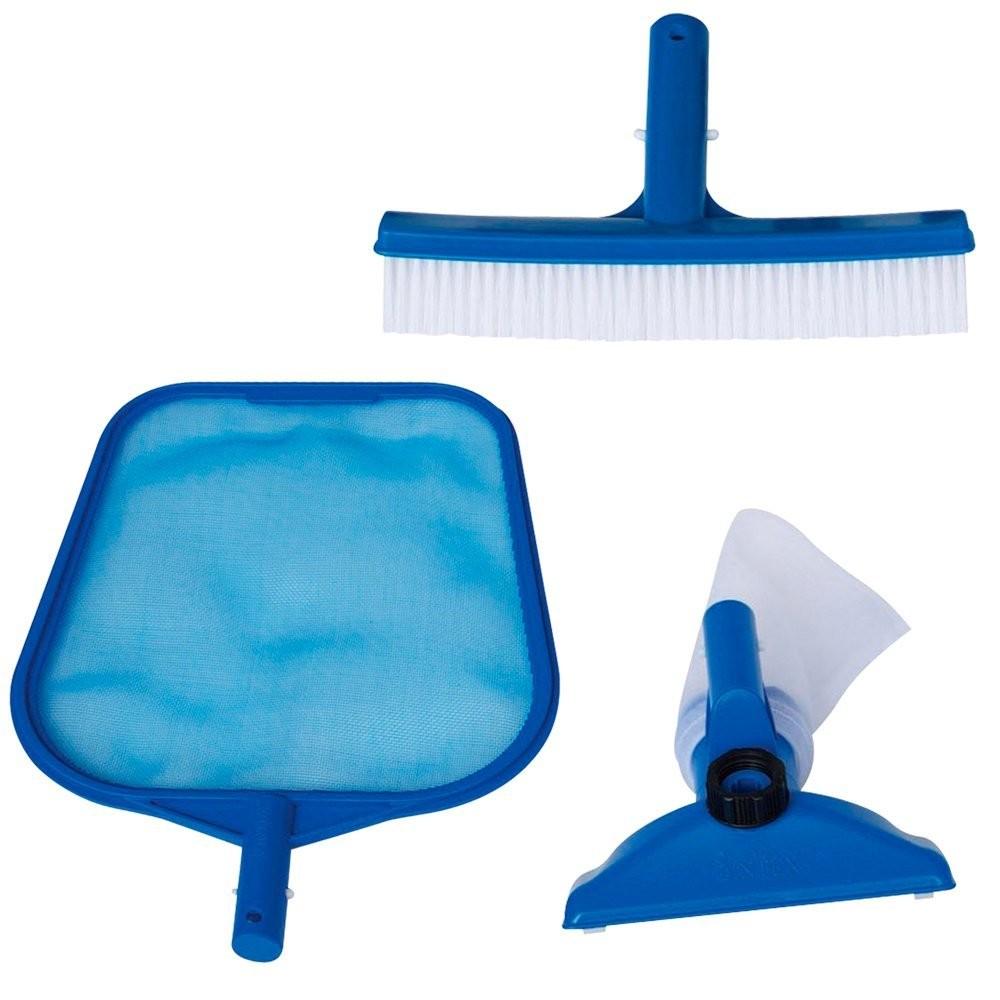 Kit de limpieza para piscinas 3 accesorios intex 29056 for Kit limpieza piscina