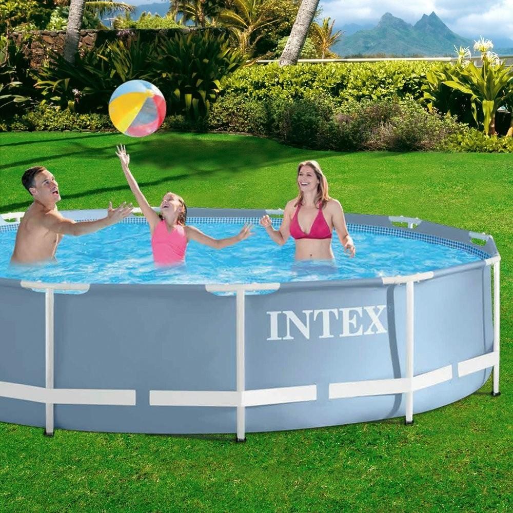 Piscina prisma frame 366 x 76 cm depuradora incluida for Depuradora piscina