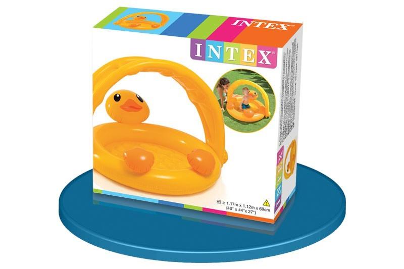 Piscina beb hinchable en forma de pato 117 x 112 x 69 cm for Piscina hinchable bebe