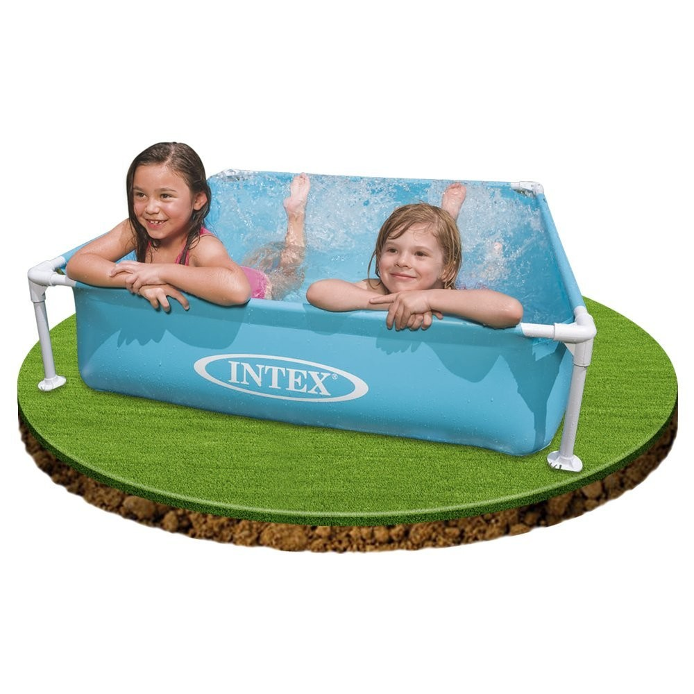 piscina intex mini frame 122 x 122 x 30 cm 57173 brico reyes. Black Bedroom Furniture Sets. Home Design Ideas