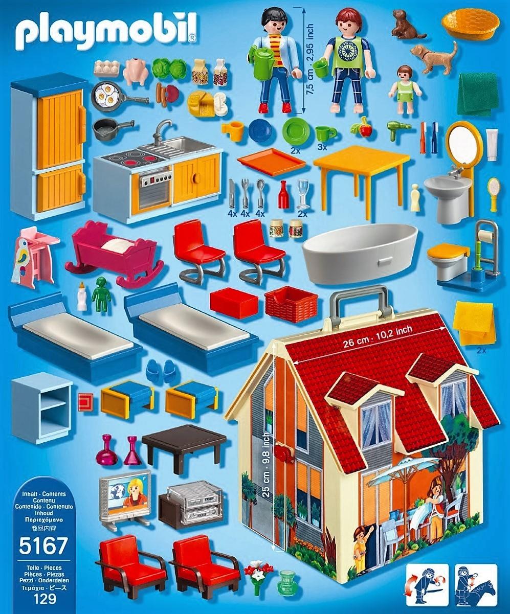Playmobil 5167 casa de mu ecas malet n brico reyes - Gran casa de munecas playmobil ...