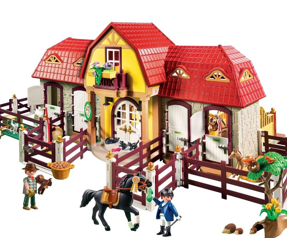 Playmobil 5221 granja con establo y accesorios brico reyes - Playmobil haras ...