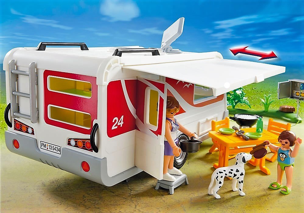 Playmobil 5434 caravana familiar y m s brico reyes for Autocaravana playmobil