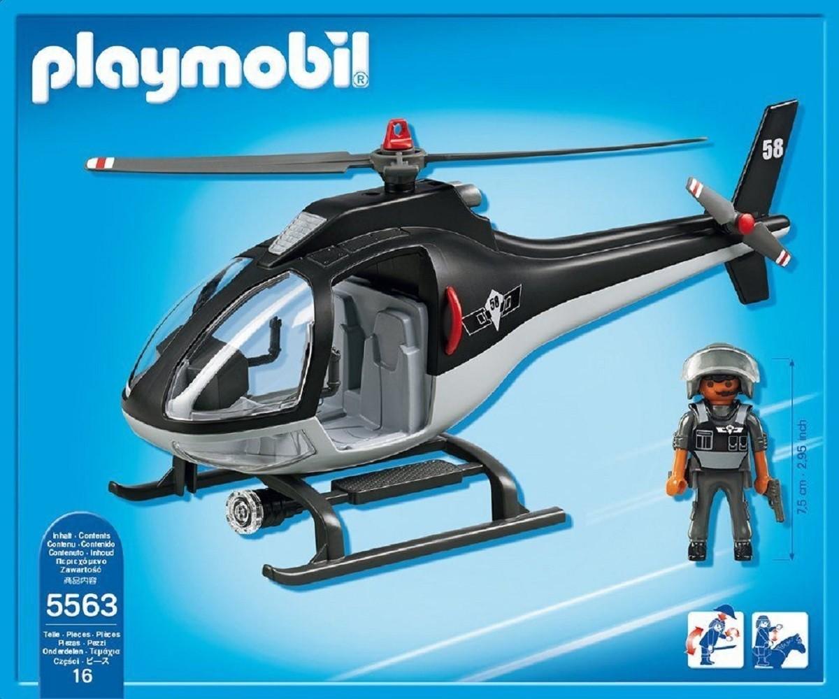 Playmobil 5563 helic ptero unidad especial de polic a for Helicoptero playmobil