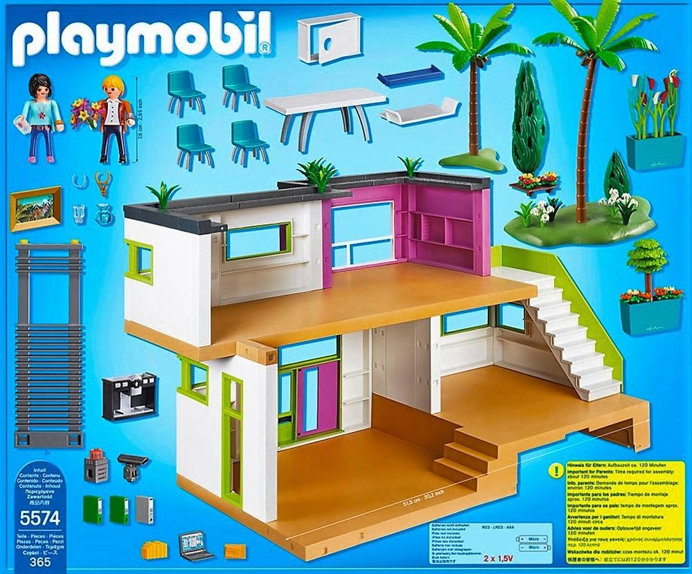 Playmobil 5574 casa moderna con accesorios brico reyes for Casa moderna de playmobil 123
