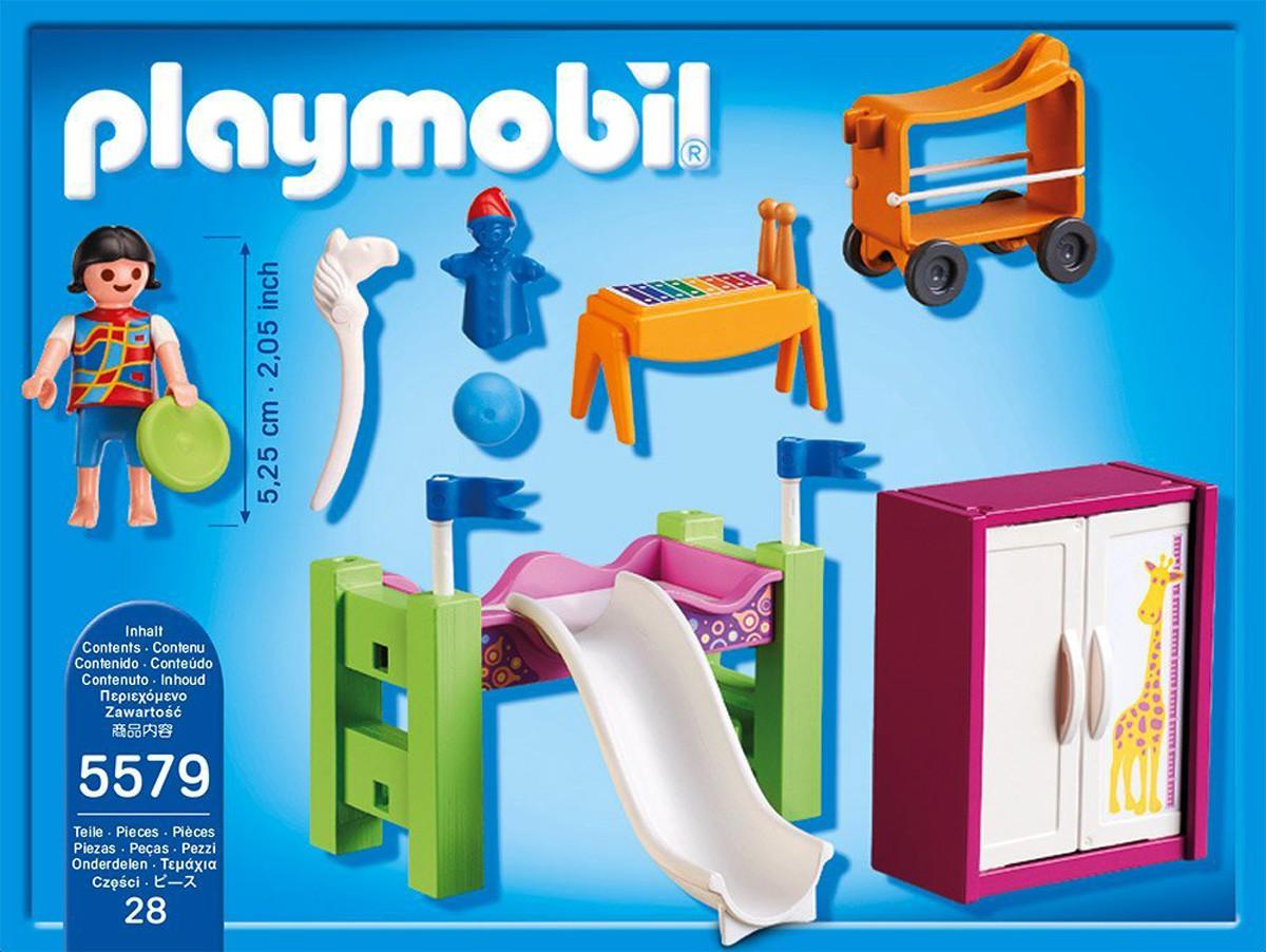 Playmobil 5579 dormitorio con litera tobog n y m s brico reyes - Tobogan para litera ...