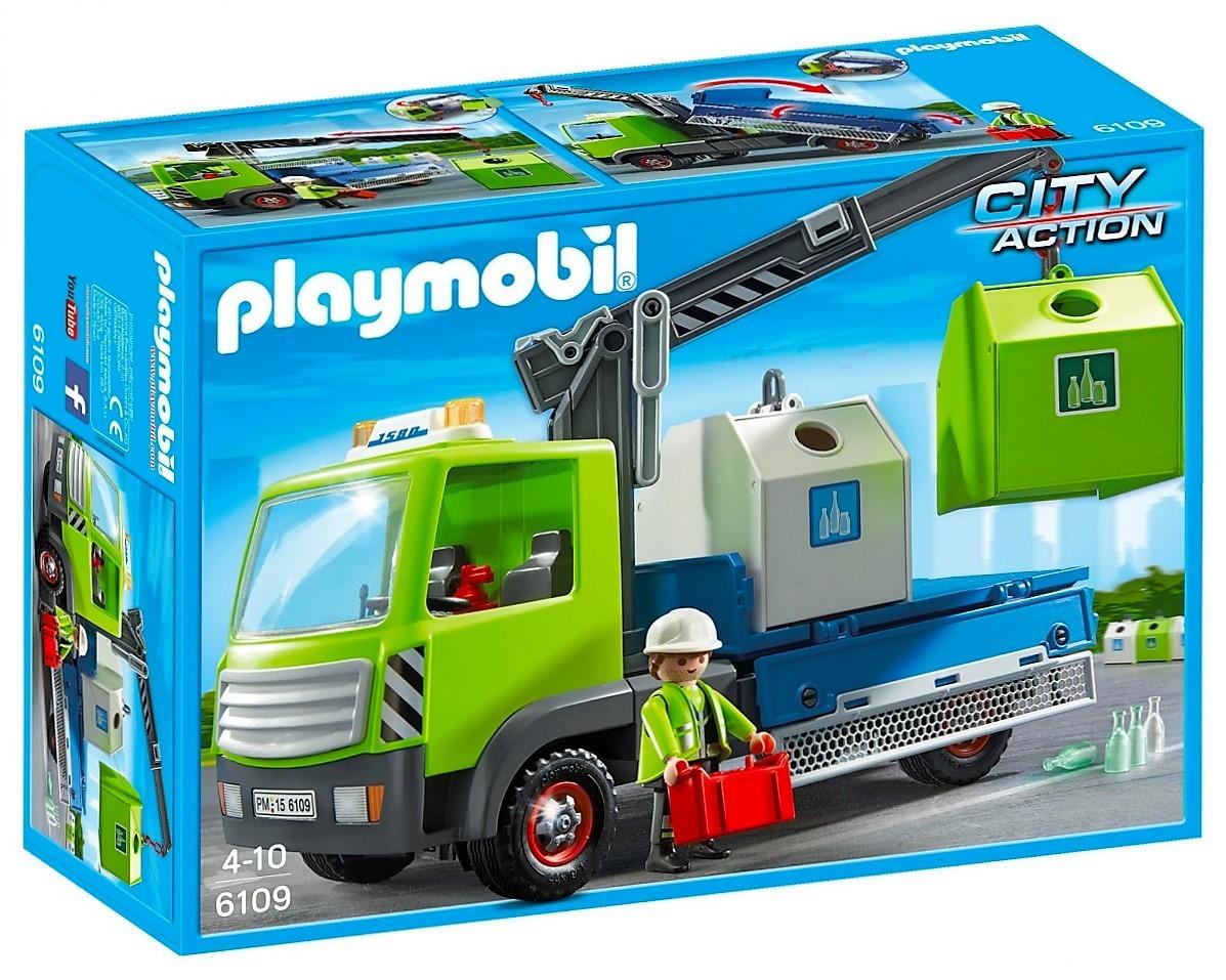 Playmobil 6109 Cami 243 N Gr 250 A De Contenedores Y M 225 S Brico