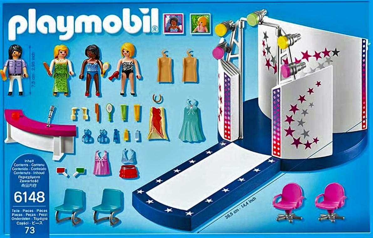 Playmobil 6148 pasarela de moda y mucho m s brico reyes for Playmobil salon de coiffure
