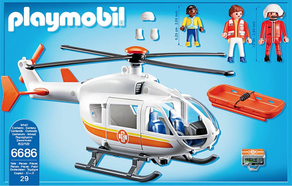 Playmobil 6686 helic ptero m dico de emergencias y m s for Helicoptero playmobil