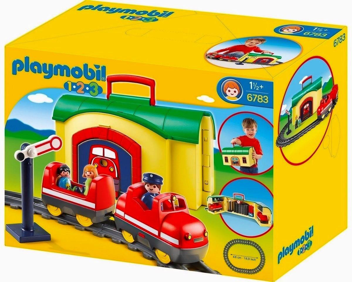 Playmobil 6783 1 2 3 tren malet n con pasajeros y m s for Casa playmobil 123