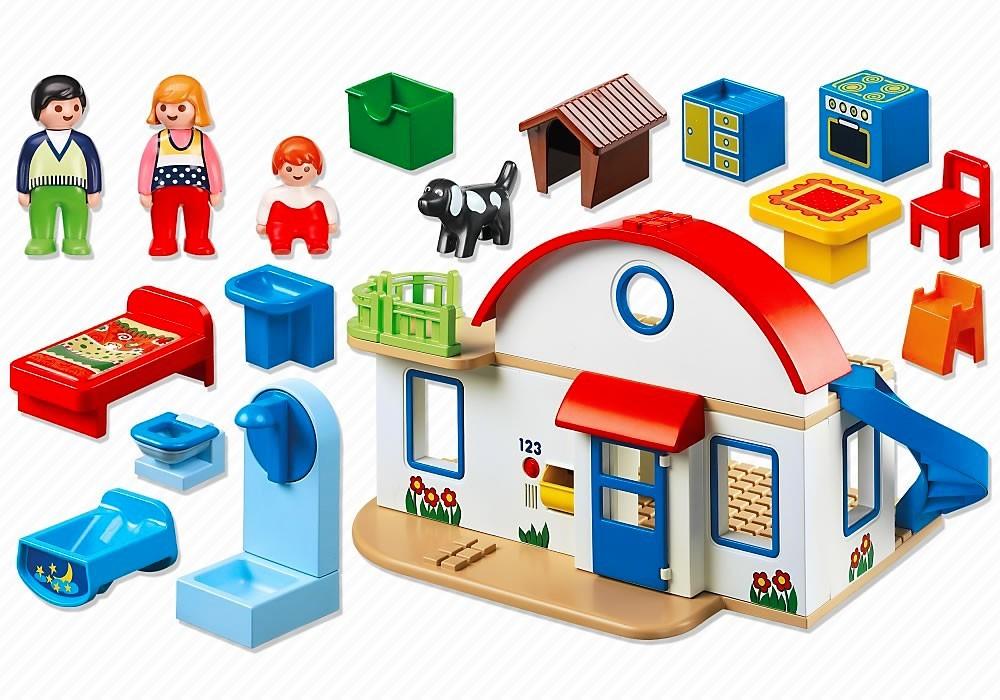 Playmobil 6784 1 2 3 casa moderna dos plantas y m s for Casa moderna 1 8