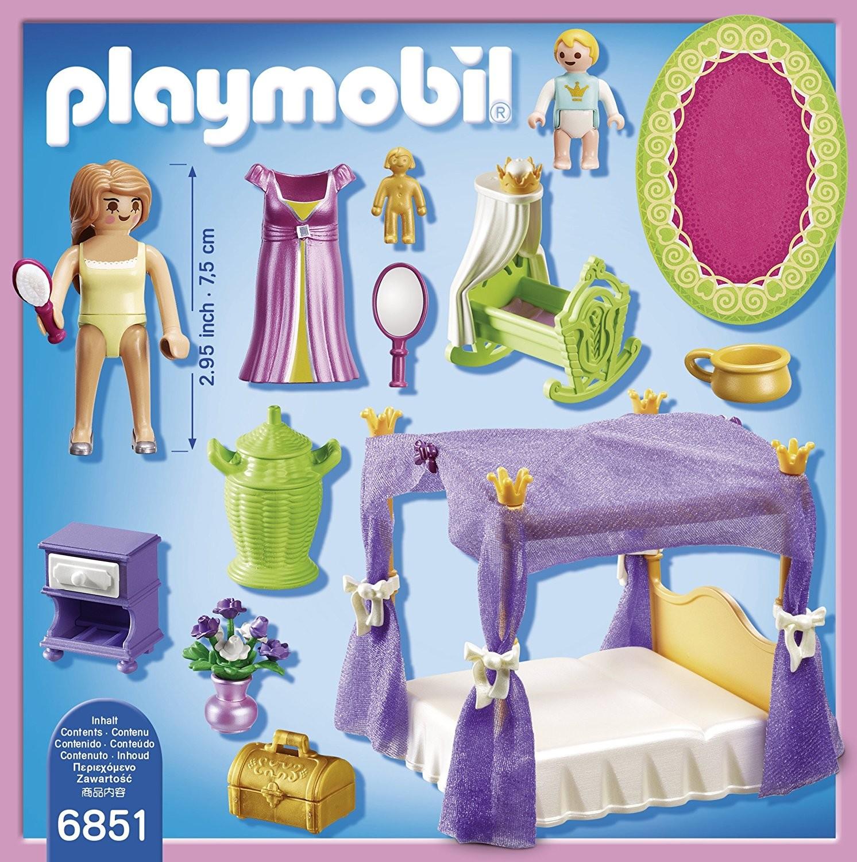Playmobil 6851 dormitorio de princesas con cuna brico reyes for Playmobil chambre princesse