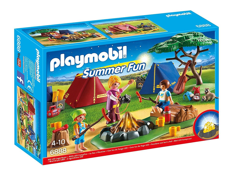 Playmobil 6888 campamento con fogata brico reyes for Autocaravana playmobil