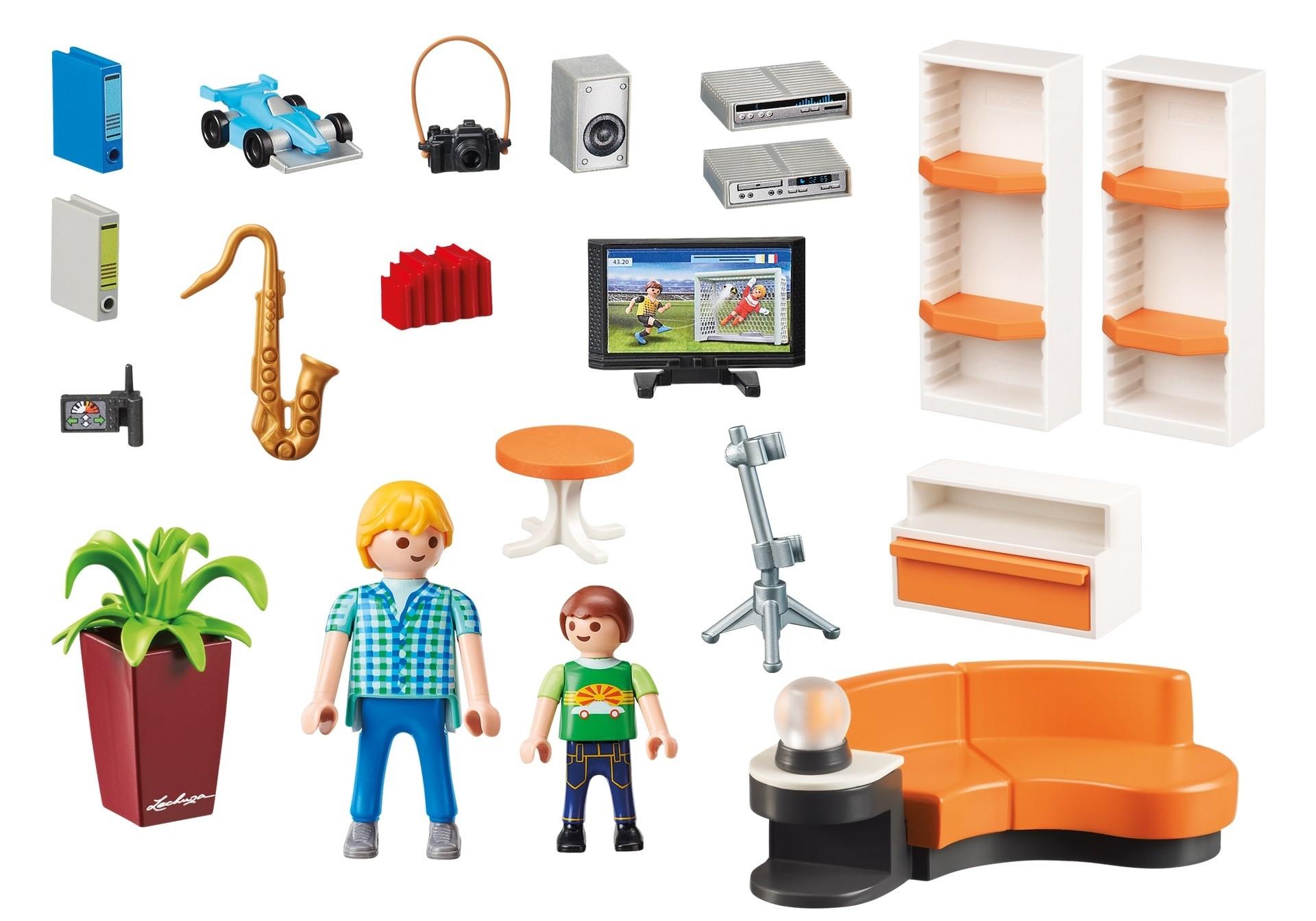 Playmobil 9267 casa moderna sal n con 2 figuras for Salone casa moderna