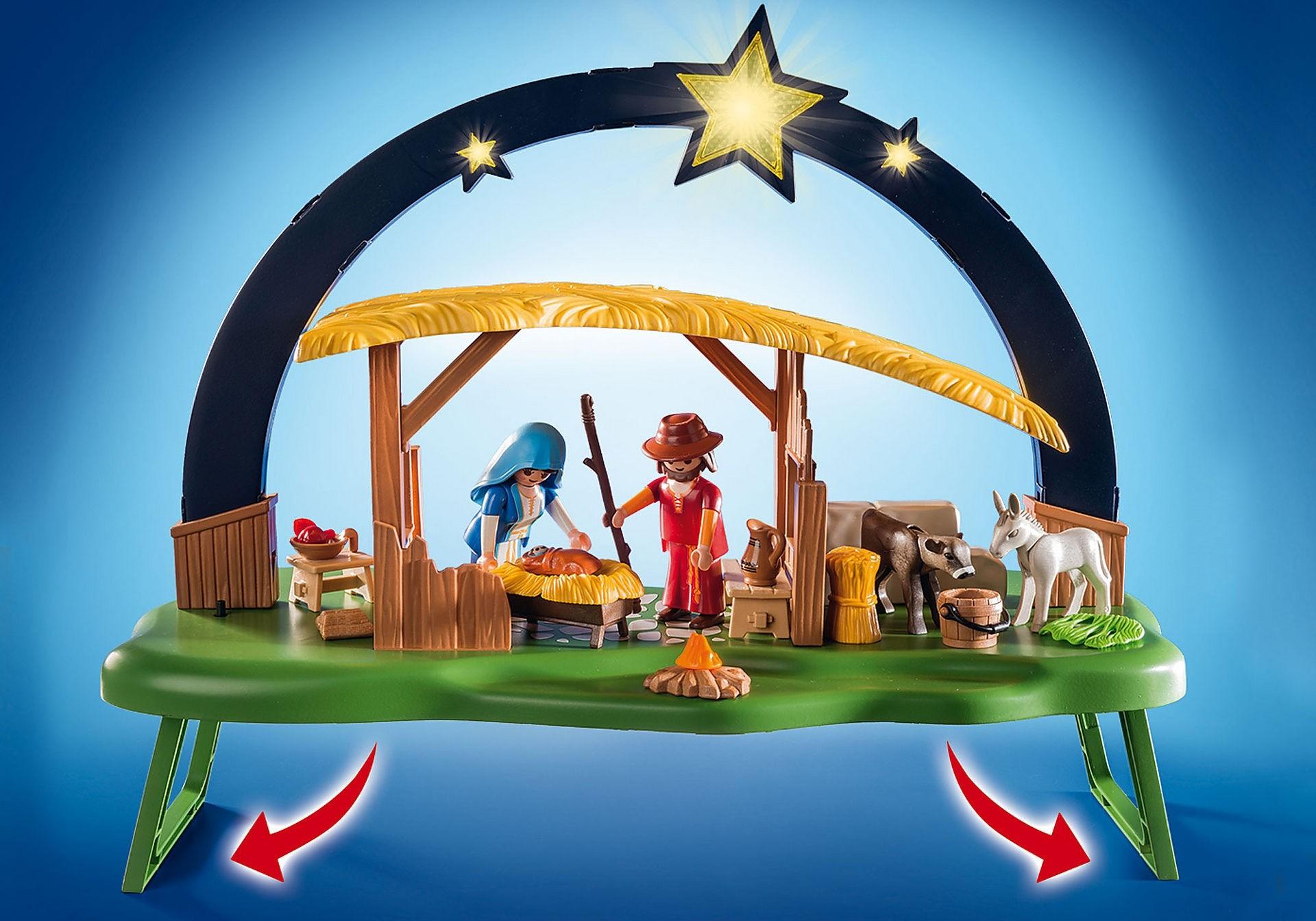 Playmobil 9494, portal de belén con luz, 4 figuras y más - Brico Reyes