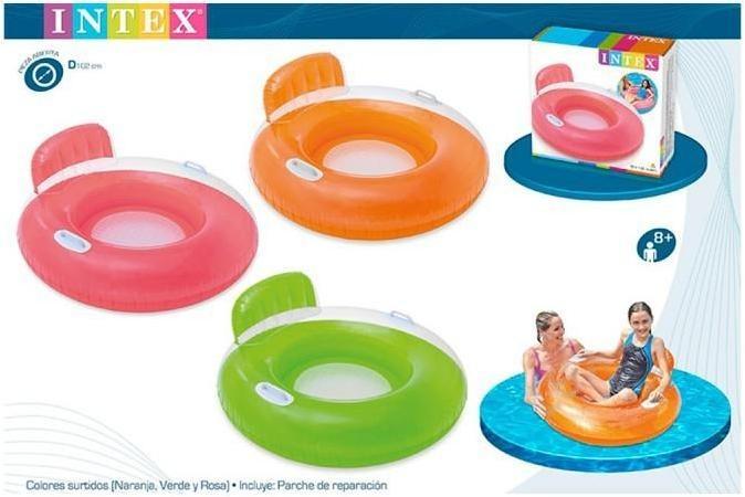 Sill n hinchable lounge 102 cm intex 56512 brico reyes for Parches para piscinas intex