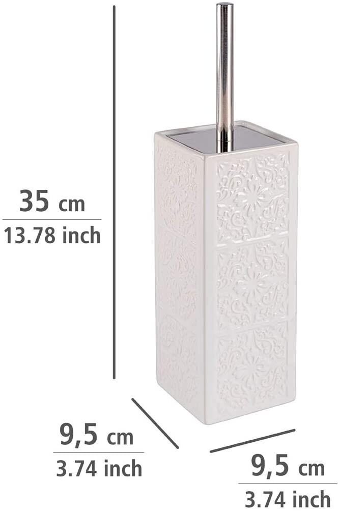 Cer/ámica 14.5x15x34.5 cm Blanco Wenko Polaris Escobillero