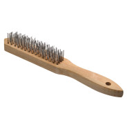 Cepillo de alambre de acero y mango de madera 1f605e2c2048