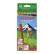 Estuche 12 lápices de colores, sin madera, Alpino AL010654