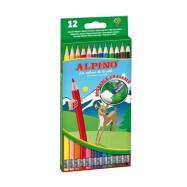 Estuche 12 lápices de colores borrables, Alpino AL013654