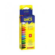 Set 12 ceras blandas DACS, distintos colores, Alpino DA050290